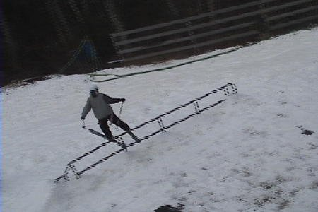 Rail slide from high angle