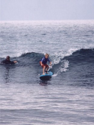 11 year old brother surfing