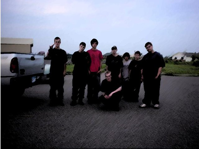 My homies and me at Paint ball