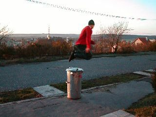 360 over trash can...sorry, we've got no snow here yet