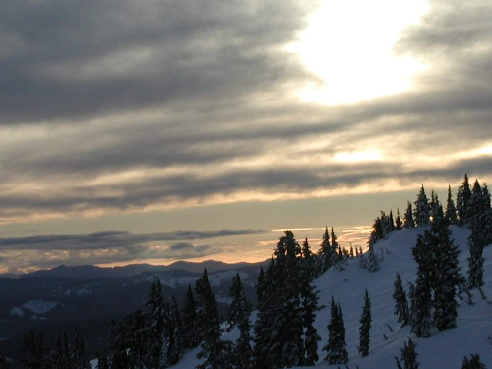 Sunset from Mt. Hood Meadows