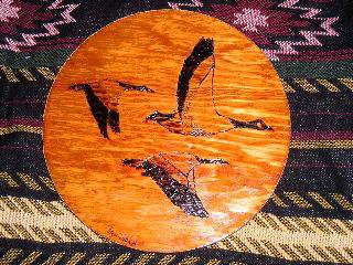 Wood burning of geese