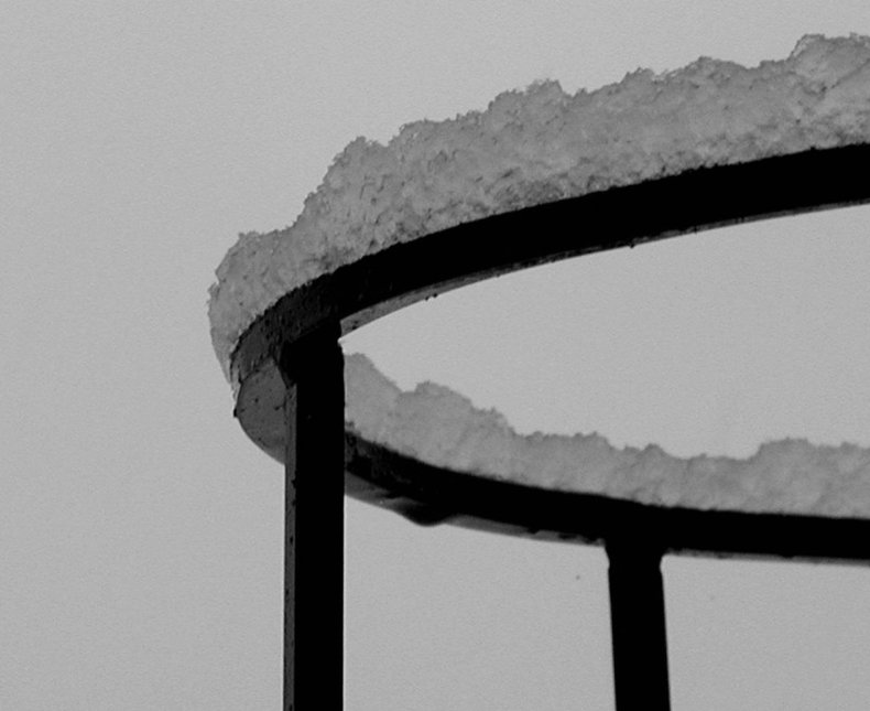 Metal Ring and Snow