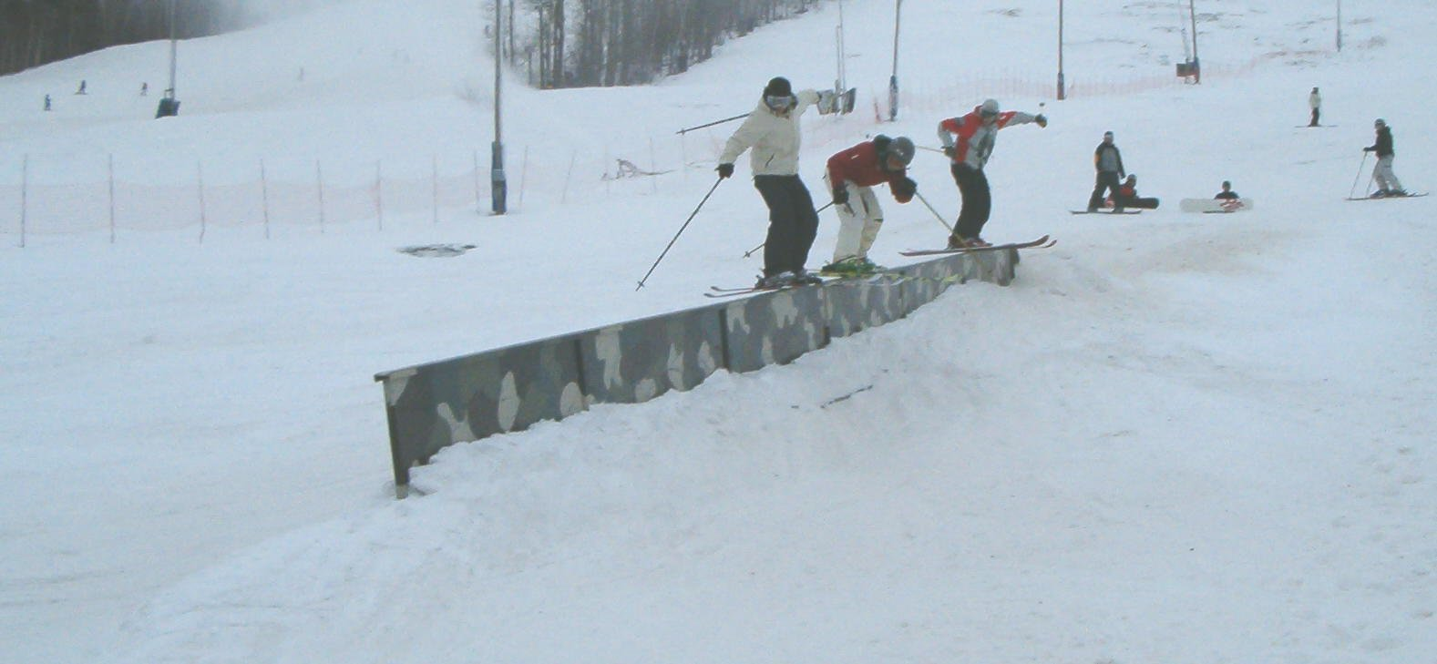Girls day out.....3 on a rail. - Your Progression Ski Camp Coaches -04