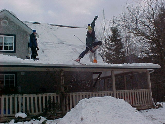 doing a little session off a roof in chilliwack, bc