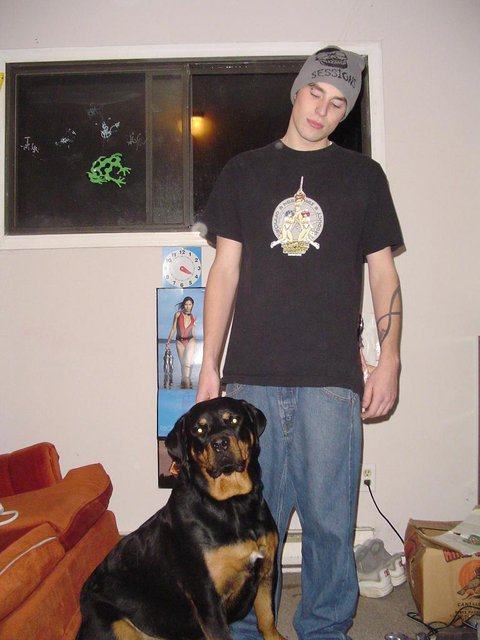 reg and Tazz.. the nicest rotty ever