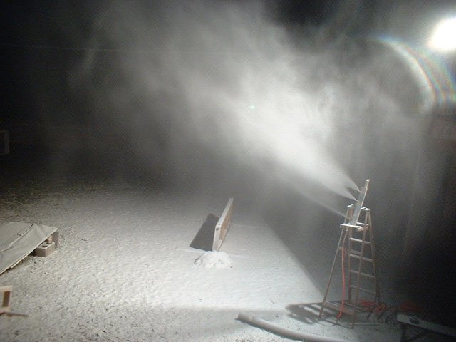 Snowgun Blowing Some Fluffy Stuff