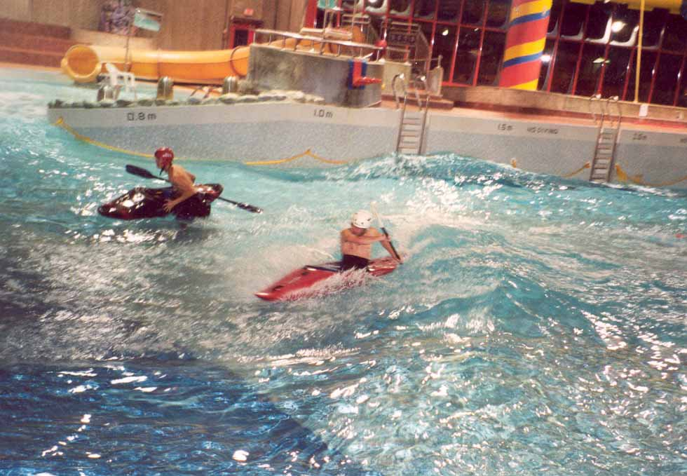KayakINg IN a Wave pool