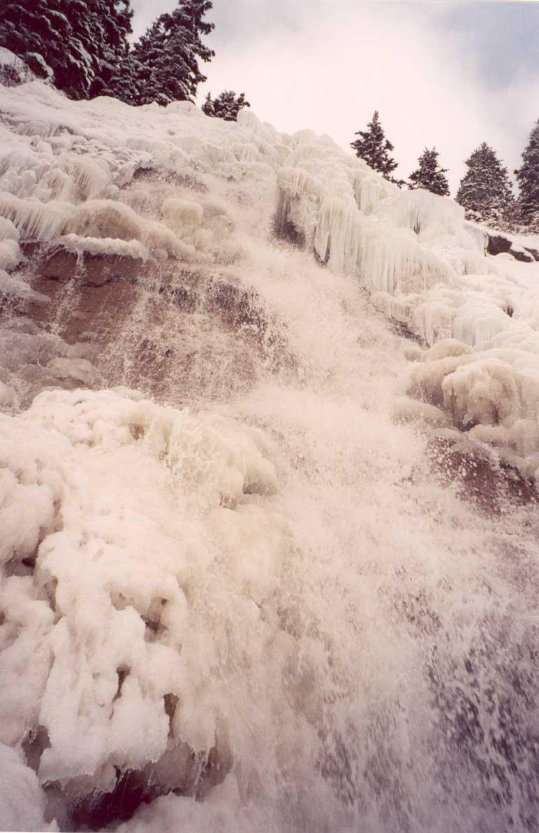 Climbing ON a Waterfall