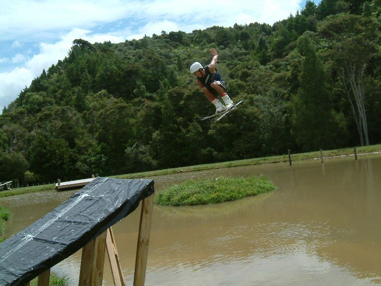 2nd part of 360 safety off home built water ramp