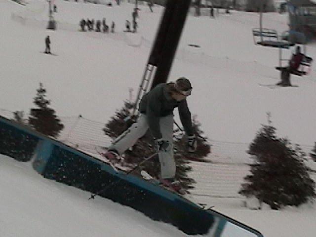 Rail comp, this kid took first...sick skier