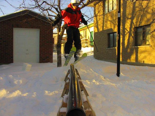 Backyard rail, another angle
