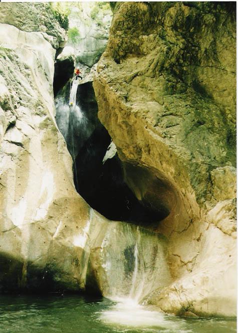 The waterfall drop