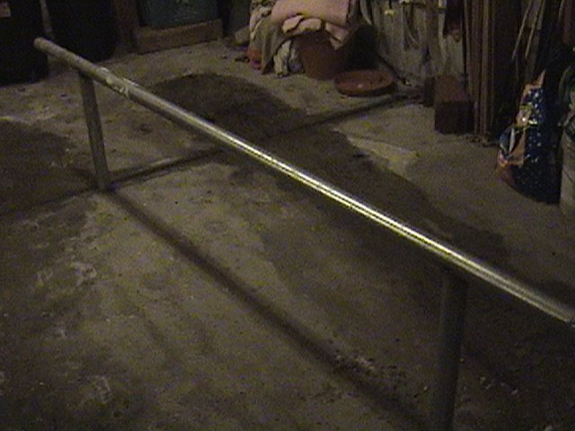 this is the first rail i ever made (10.5 foot street sign pole).