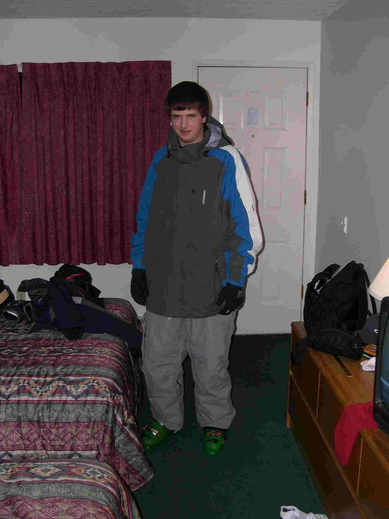 This is me trying on my stuff after I just got it that day
