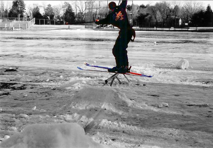 Watch Kurt as he learns railslides... see the way he stalks the 270 out...