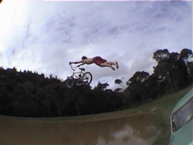 Superman on BMX