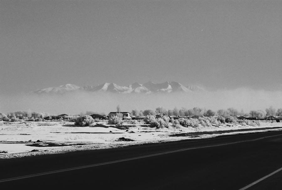 Mt. Blanca with lifting fog