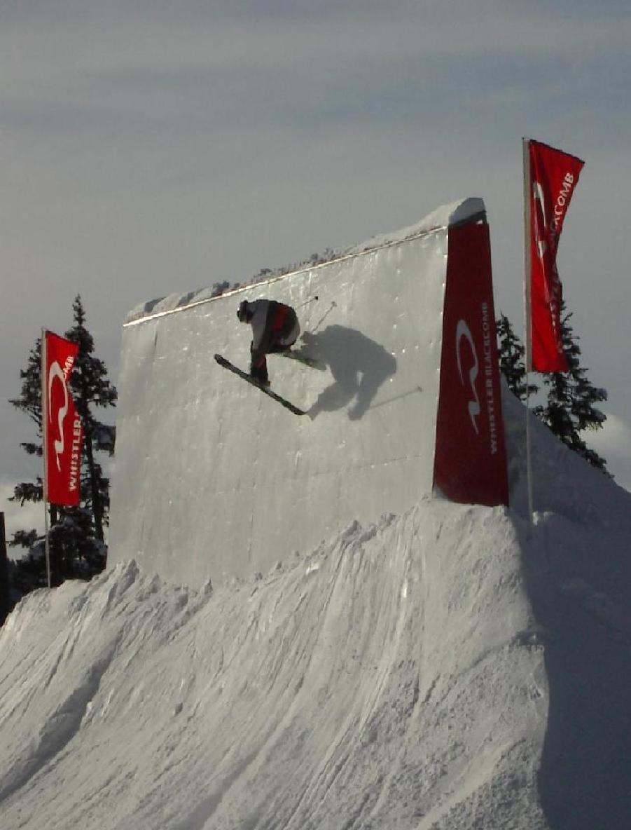 one foot fast plant on the new wall ride Blackcomb