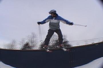railslide on a c