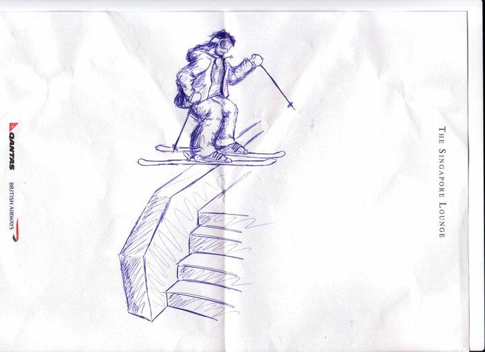 quick nice ledge sketch
