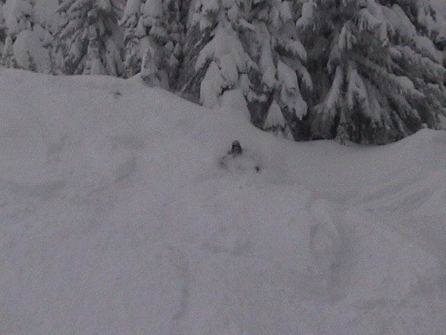 deep snow=face shots