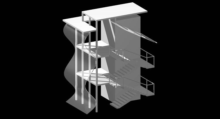 this is my architecture project....   woooo stairs!