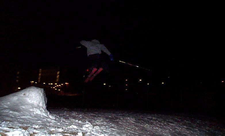 throwin 180s in the dark