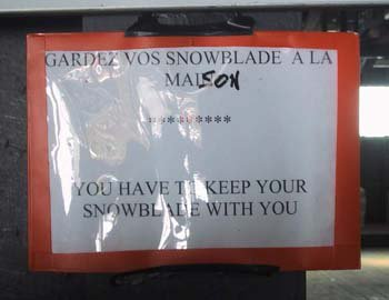 French view on snowblades...