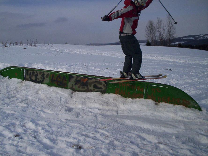 Rail we put in at school...they let us uild a terrain park by the presidents house and its ill