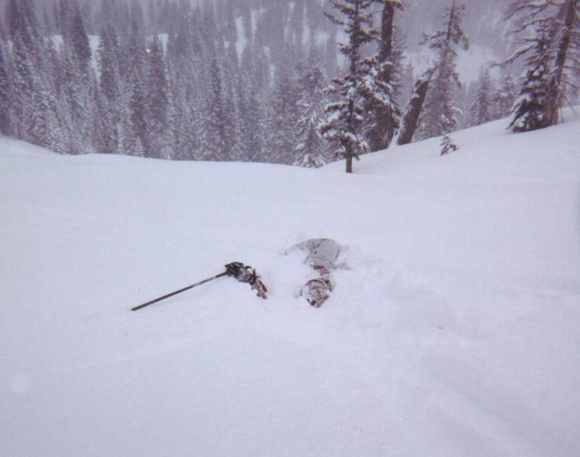 pow stoke, she got so excited she couldnt even stand up...
