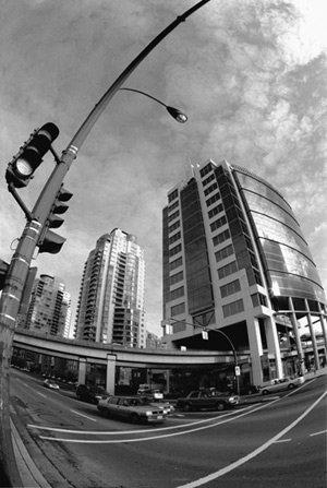 Wide angle downtown.