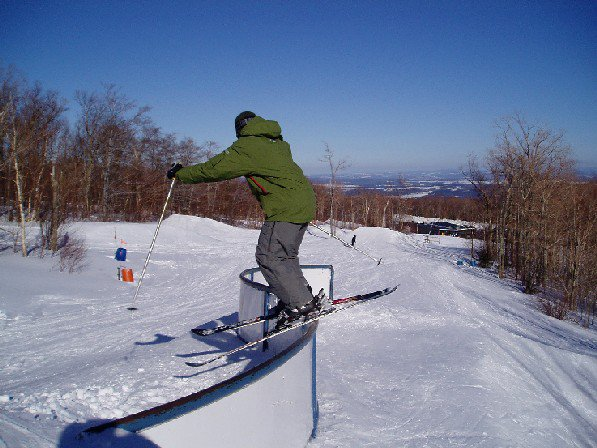 Me on Jay Peak's sick S rail