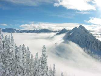 Fog, Peak Stevens Pass Back Bowl