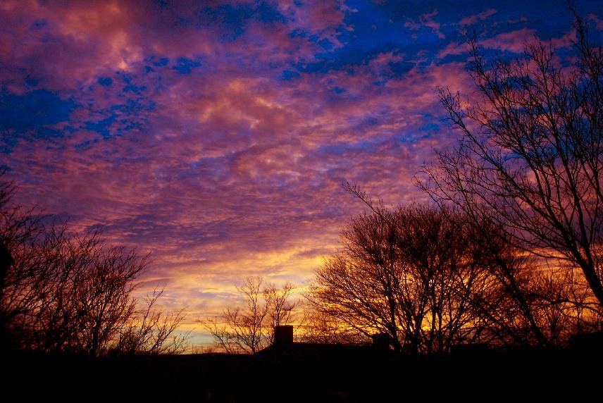 this was last week out my window it was very pretty... ok ok yes i used photoshop a little bit, but