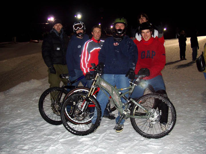 Fat Tire Race at COP And you thought hitting those 40 footers on skis was hard!! Try Bikes! Carnage!