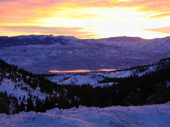 sunrise at my local mountain.