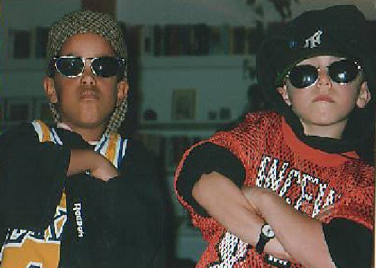 Me and one of my best friends back in the day when I was younger, I'm on the right