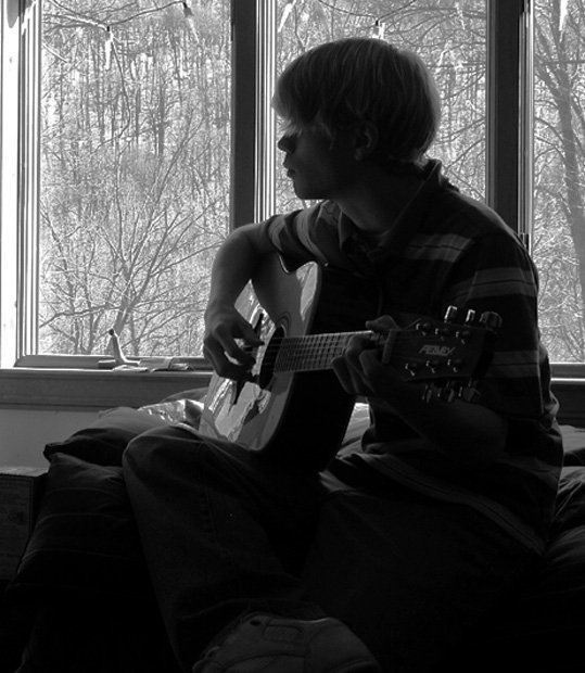 Self Portrait Playing Guitar