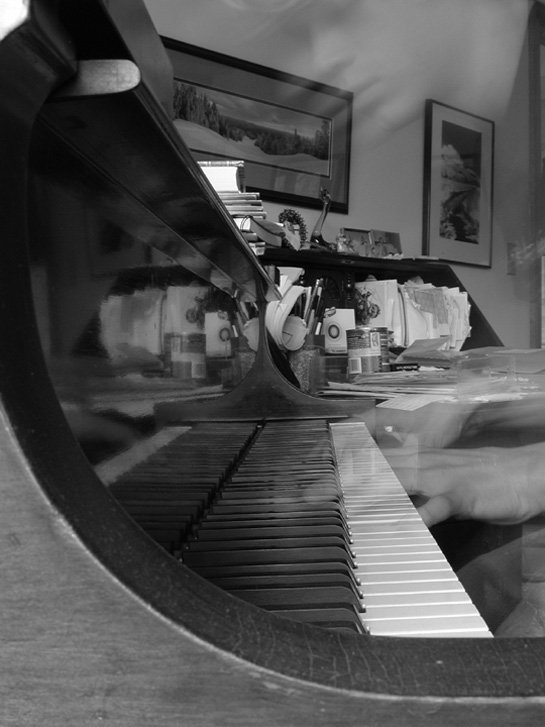 Another Multiple Exposure Playing Piano