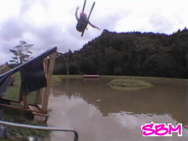 SBM hittin the water ramp