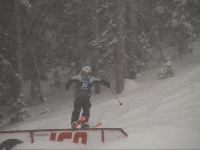 1st place slopestyle run cab 270 on 450 off