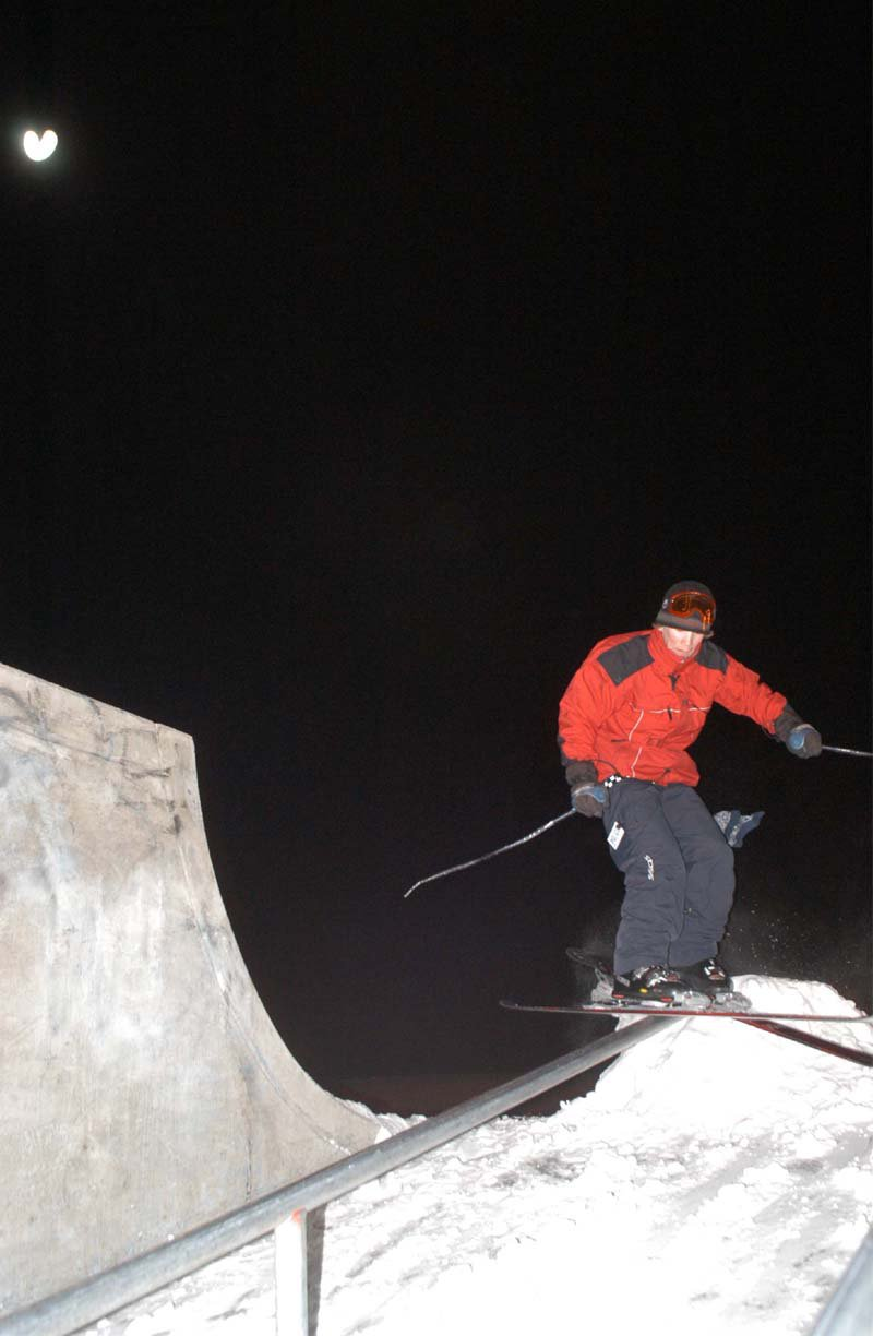 Skate parks are for SKIING!
