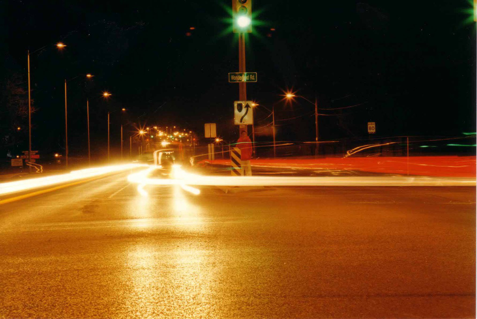 Long Shutter at intersection with me...nice pic