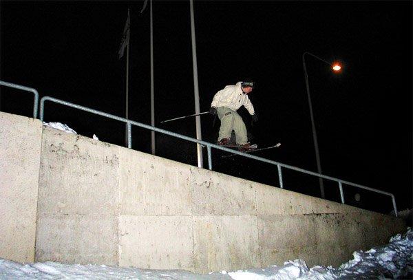 unnatural slide on handrail
