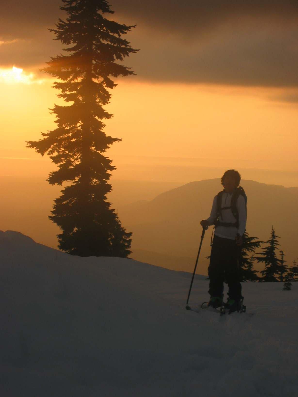 Mt. Pilchuck orange sunset