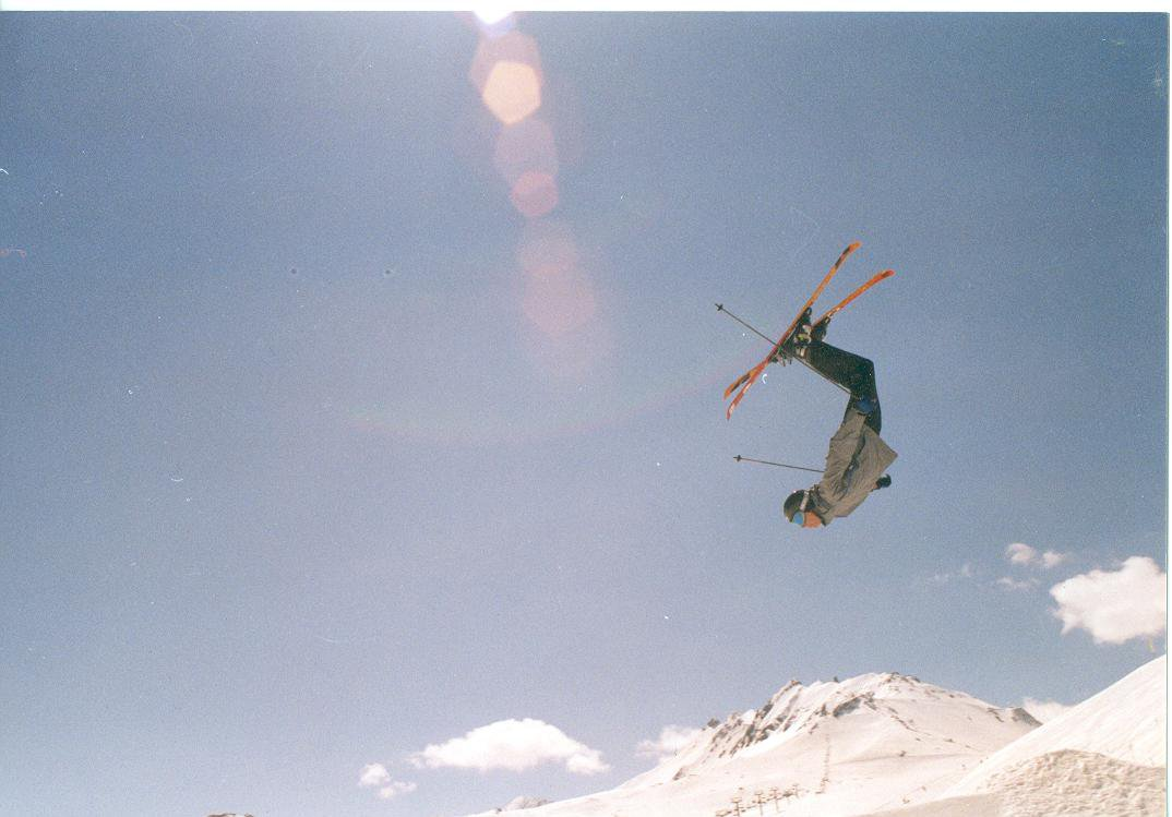 I love this photo of a backflip