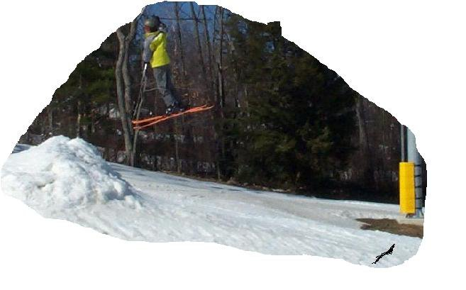Smooth 360 off of small jump