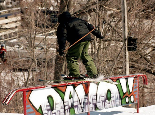 PeterD shleeze on the Davo!! rail
