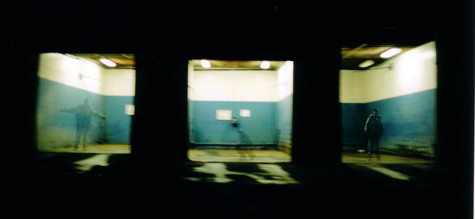 3 Exposures..of me in random Car Washes